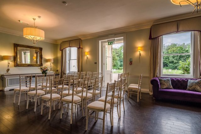 Seating area in the Hawthorn room at Morden Hall