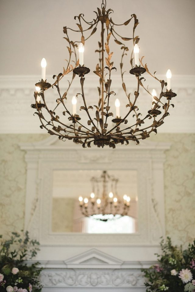 Unique chandelier at Morden Hall exlusive wedding venue