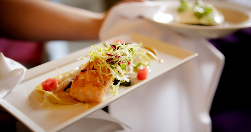 A superb Salmon starter for your Morden Hall Wedding Menu - catered by Galloping Gourmet