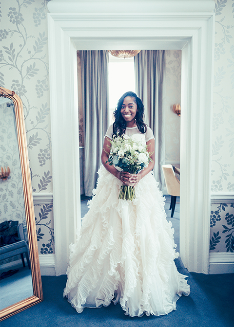 Brides-dress-at-Angela-and-Praj'-wedding-at-Morden-Hall-wedding-venue