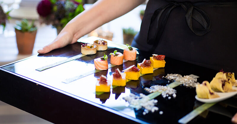 Enjoy high quality wedding food such as these delicious wedding canapes – wedding food
