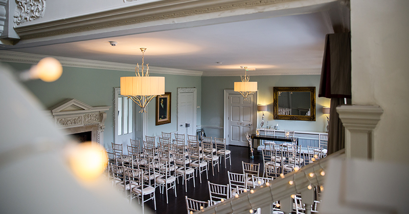 The stunning Willow room was the perfect location for the couple's wedding ceremony