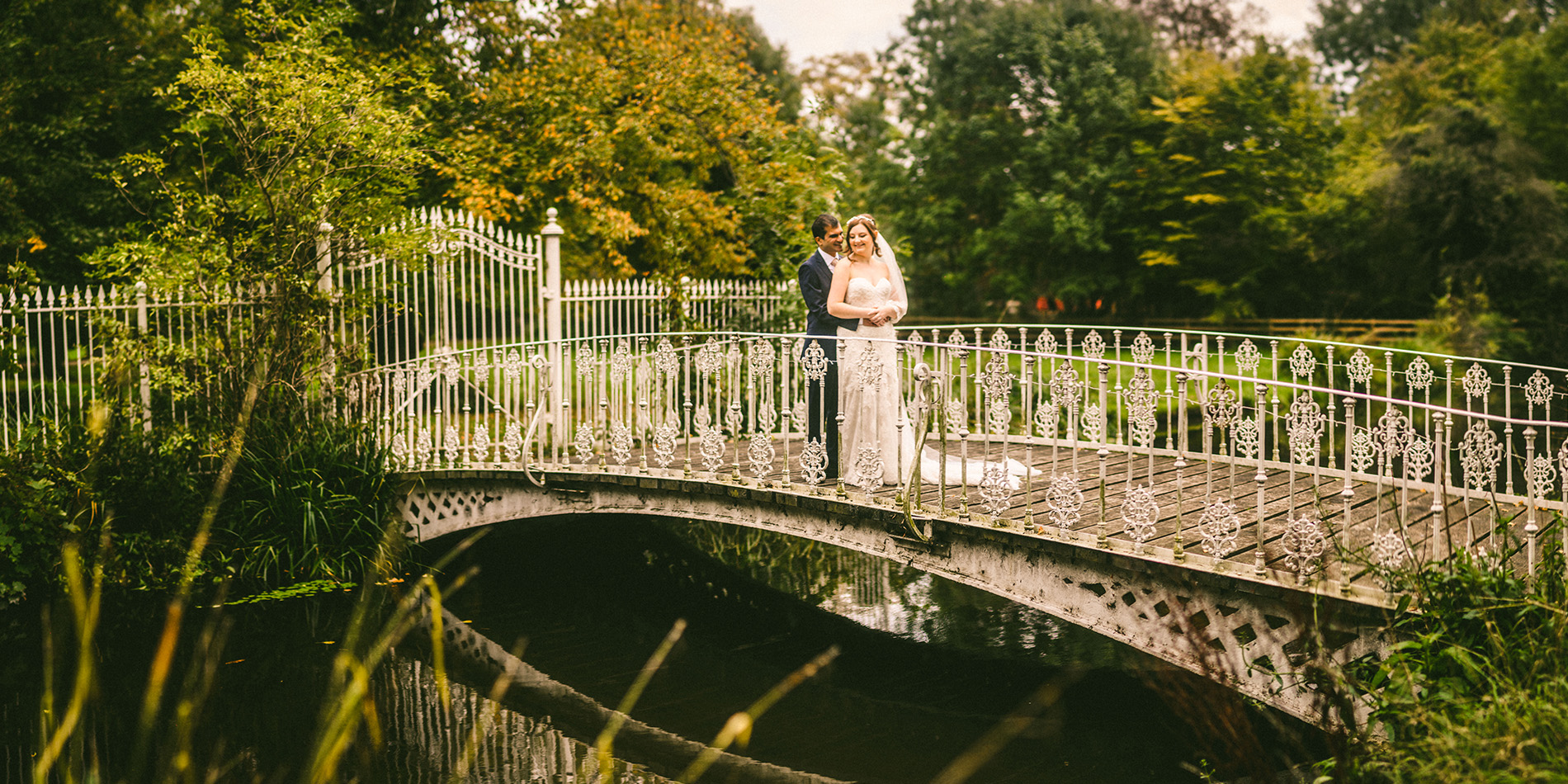 Vicky and Lalit's real life wedding at Morden Hall in London