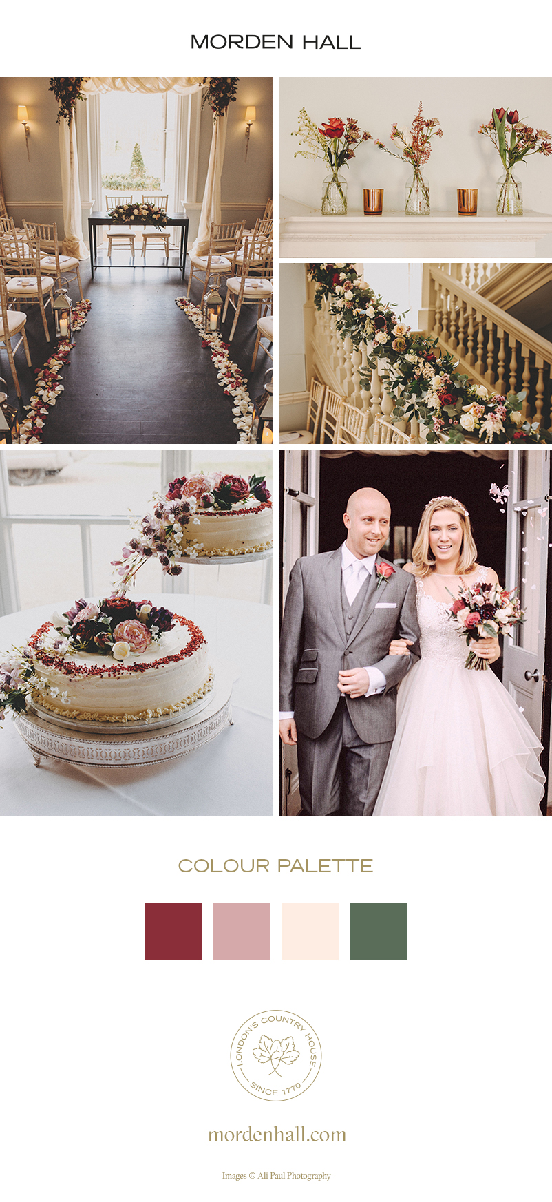 Marette and Paul's real life wedding at Morden Hall