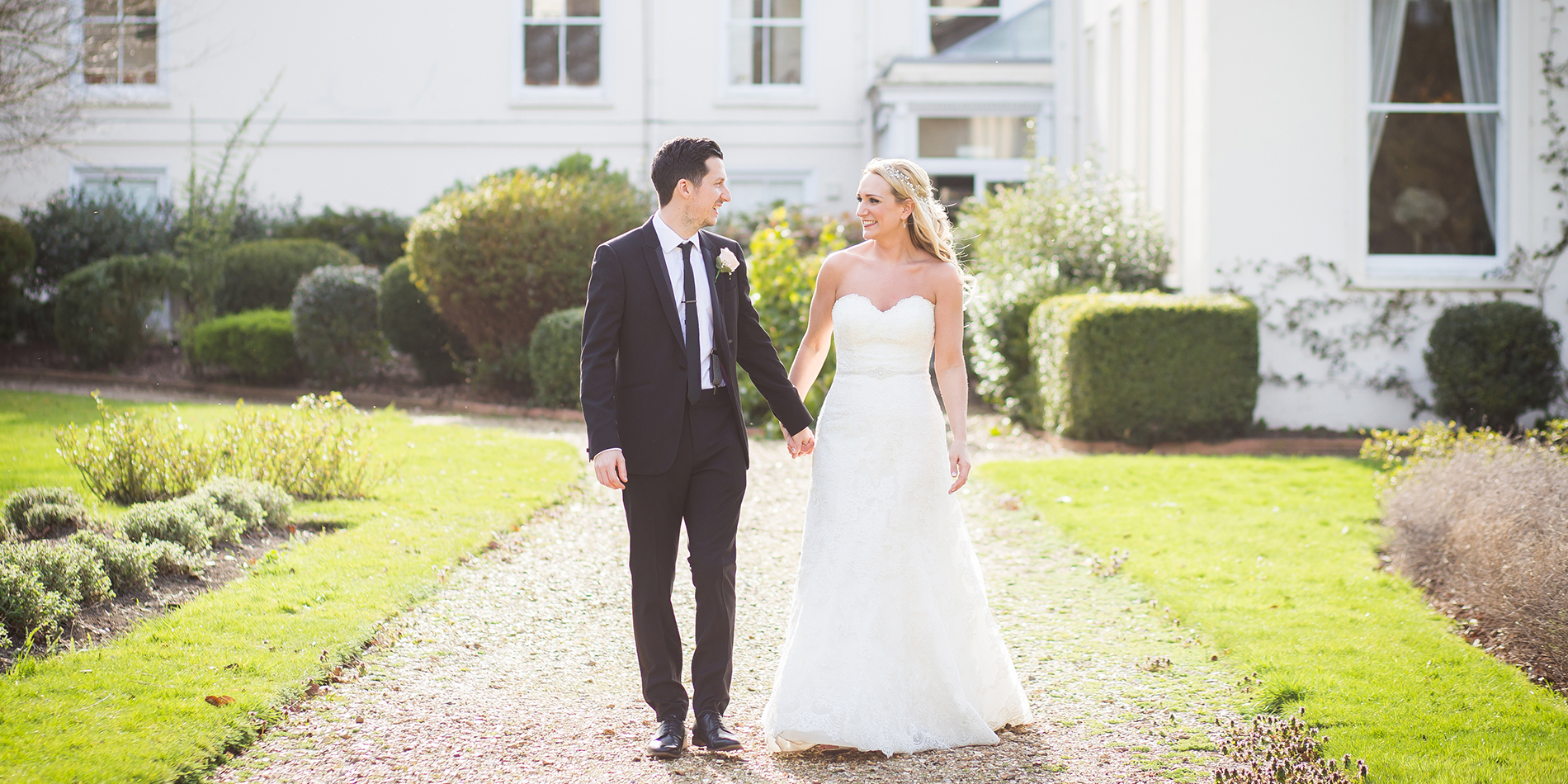 Francesca and Andrew's real life wedding at Morden Hall