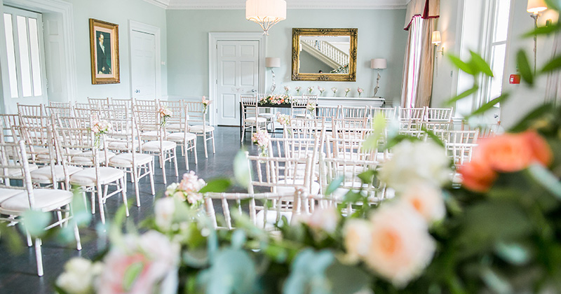 The Willow Suite is wonderfully light and airy and is perfect for your wedding ceremony at Morden Hall in London