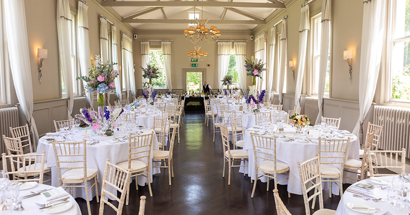 The venue will be set up exactly as it would for a wedding day so you can have the full experience at your tasting event at Morden Hall