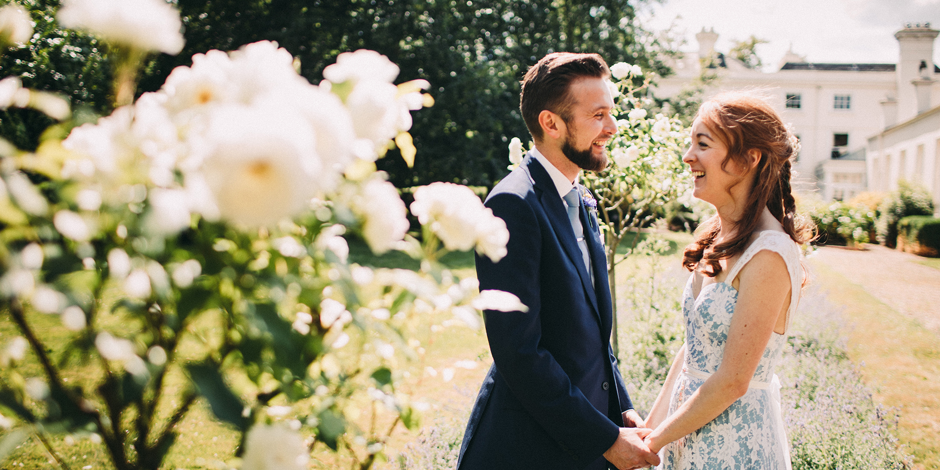 Auburn and Olly's real life wedding at Morden Hall in London