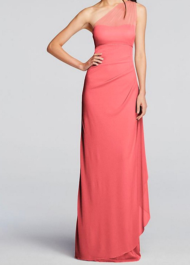 Living coral is the pantone of 2019 and the perfect colour for bridemaid's dresses for summer weddings at Morden Hall.
