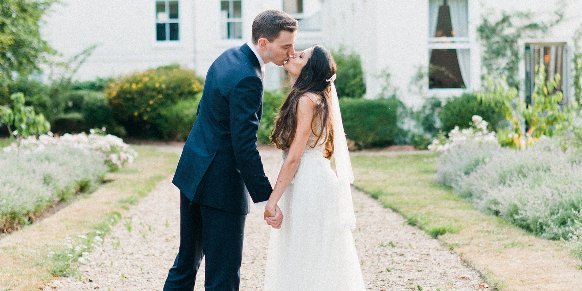 Linda and Adam's real life wedding at Morden Hall