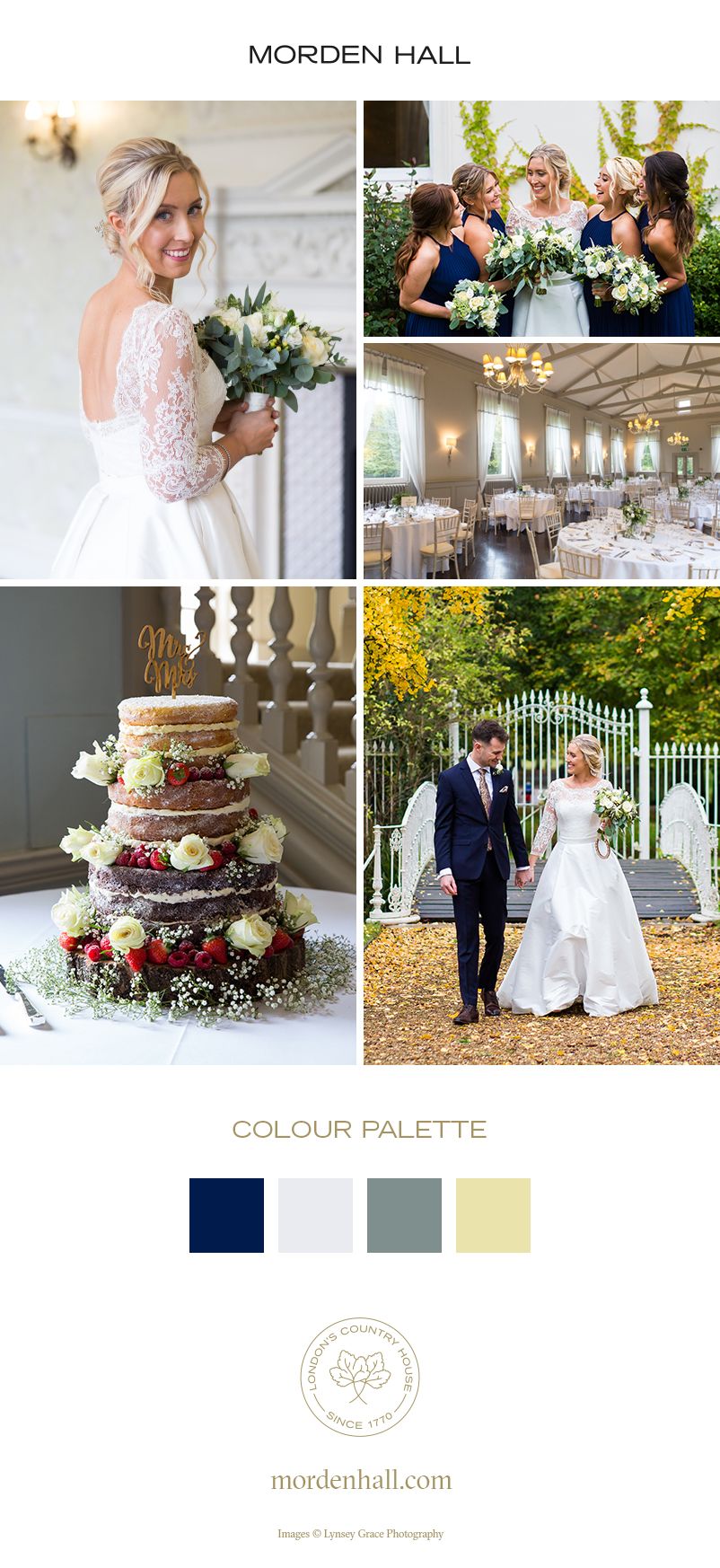 Laura and Alex's Elegant Autumn Wedding at Morden Hall