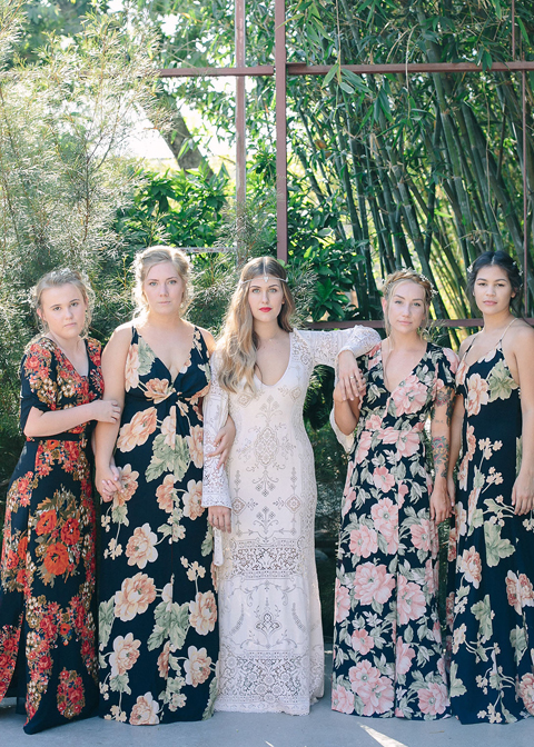 Floral bridesmaids dresses are a perfect option for a summer wedding in London