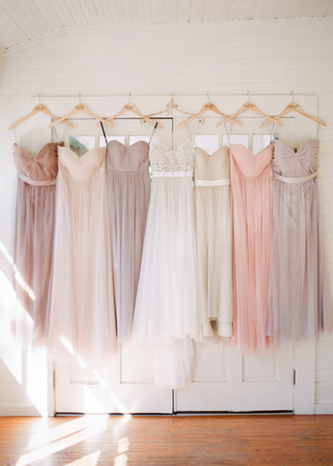 These pretty pastel pink bridesmaid dresses are perfect for a summer wedding at Morden Hall
