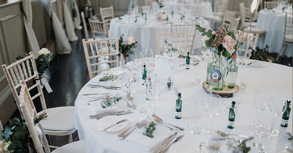 The tables were beautifully decorated – wedding ideas